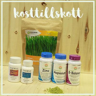 Kosttillskott, växtbaserade läkemedel och örter